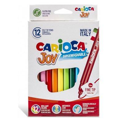 Εικόνα της Carioca - Μαρκαδόροι Joy 2.6mm Σετ. 12 Χρώματα 40614