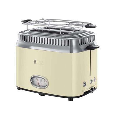 Εικόνα της Φρυγανιέρα Russell Hobbs 21682-56 Retro Vintage Cream Toaster