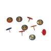 Εικόνα της Πινέζες χρωματιστές Με Πλαστική Επένδυση (100 τμχ)