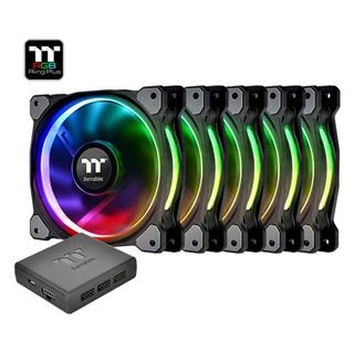 Εικόνα της Case Fan Thermaltake Riing Plus 120mm RGB Premium Edition (5-pack) CL-F054-PL12SW-A
