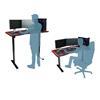Εικόνα της Gaming Desk Nitro Concepts D16E Carbon Black (Electrical) 160x80x71-121cm NC-GP-DK-008