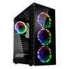 Εικόνα της Kolink Observatory Lite RGB Tempered Glass Black GEKL-065