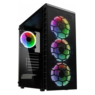 Εικόνα της Kolink Observatory Lite Mesh RGB Tempered Glass Black GEKL-066