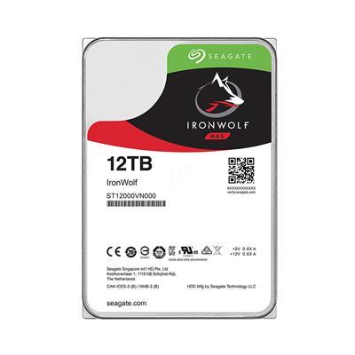 Εικόνα της Εσωτερικός Σκληρός Δίσκος NAS Seagate 3.5'' Ironwolf 12TB Sata III 256MB ST12000VN0008