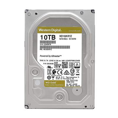 """Εικόνα της Εσωτερικός Σκληρός Δίσκος Western Digital Gold 10TB 3.5"""" SATA ΙΙΙ 256MB 7200rpm WD102KRYZ"""