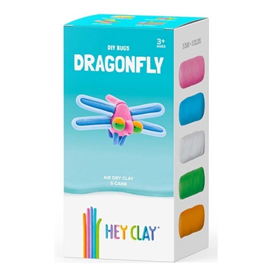 Εικόνα της Claymates Dragonfly - Colorful Kids Modeling Air-Dry Clay, 5 Cans MMN003