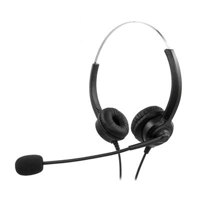 Εικόνα της Headset MediaRange Ενσύρματο Stereo with Microphone and Control Panel Black MROS304