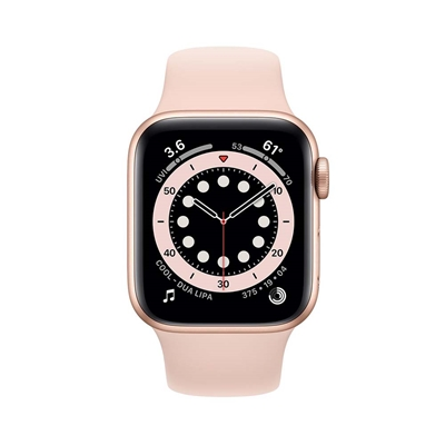 Εικόνα της Apple Watch Series 6 GPS 40mm Gold Aluminum Case with Pink Sand Sport Band MG123NF/A