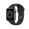 Εικόνα της Apple Watch Series 6 GPS 40mm Space Gray Aluminum Case with Black Sport Band MG133TY/A