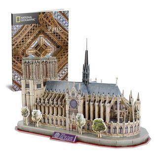 Εικόνα της Cubic Fun - 3D Puzzle National Geographic, Notre Dame De Paris 128pcs DS0986h