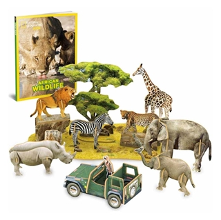 Εικόνα της Cubic Fun - 3D Puzzle National Geographic, African Wildlife 69pcs DS0972h