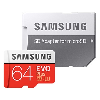 Εικόνα της Κάρτα Μνήμης Samsung MicroSDXC Samsung Evo Plus 64GB U1 (2020) + SD Adapter MB-MC64HA/EU