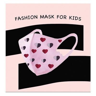 Εικόνα της Παιδική Υφασμάτινη Μάσκα Για Κορίτσια Λευκό-Ροζ Σετ 2 Τεμαχίων