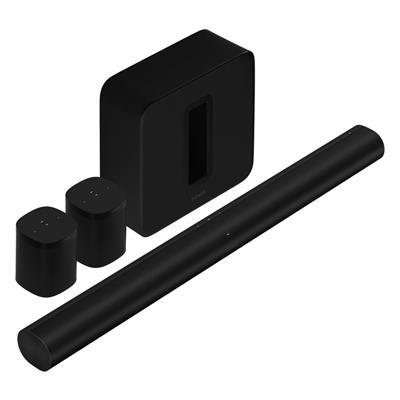 Εικόνα της Sonos 5.1.2 Surround Set with Sonos Arc, Sub & One SL Black