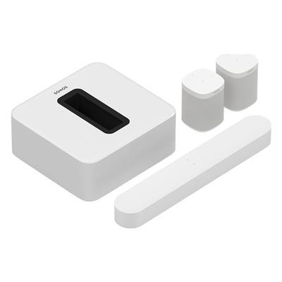 Εικόνα της Sonos 5.1 Surround Set with Sonos Beam, Sub & One SL White