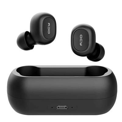 Εικόνα της True Wireless Earbuds QCY T1c Bluetooth 5.0 IPX4 Black with Charging Box