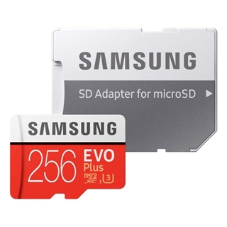Εικόνα της Κάρτα Μνήμης MicroSDXC Class 10 Samsung Evo Plus UHS-I U3 256GB + SD Adapter (2020) MB-MC256HA/EU