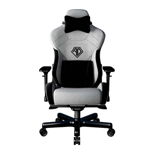 Εικόνα της Gaming Chair Anda Seat T-Pro II Light Grey/Black Fabric with Alcantara Stripes AD12XLLA-01-GB-F