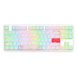 Εικόνα της Πληκτρολόγιο Ducky One 2 Pure White RGB TKL Cherry MX Brown Switches DKON1787ST-BUSPDWWT1