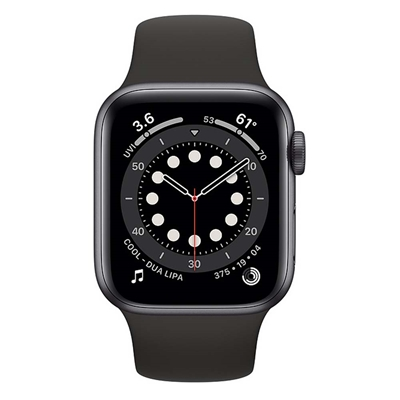 Εικόνα της Apple Watch Series 6 GPS 40mm Space Gray Aluminum with Black Sport Band MG133GK/A