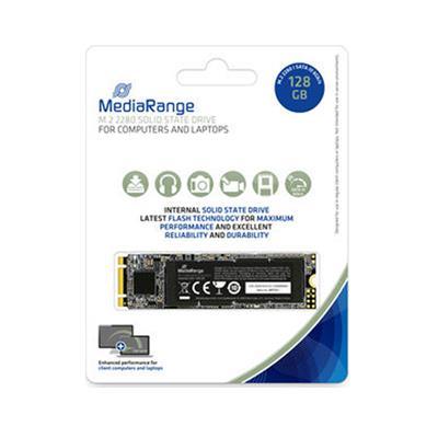 Εικόνα της Δίσκος SSD MediaRange 128GB M.2 2280 SataIII Black MR1021