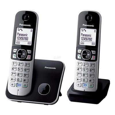Εικόνα της Ασύρματο Τηλέφωνο Panasonic KX-TG6812GB Duo Black