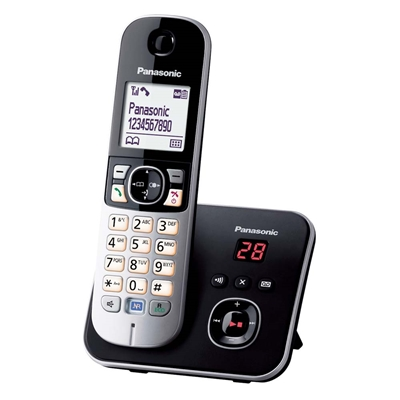Εικόνα της Ασύρματο Τηλέφωνο Panasonic KX-TG6821GB Black