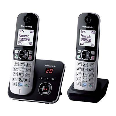 Εικόνα της Ασύρματο Τηλέφωνο Panasonic KX-TG6822GB Duo Black