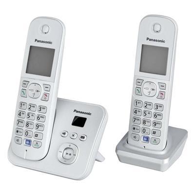 Εικόνα της Ασύρματο Τηλέφωνο Panasonic KX-TG6822GS Duo Pearl Silver