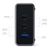 Εικόνα της Satechi 100W USB-C PD Compact GaN Charger - Space Grey ST-TC100GM-EU