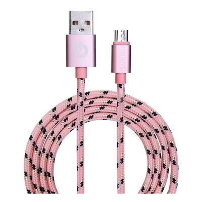 Εικόνα της Καλώδιο Garbot Grab&Go micro-USB Braided Pink 1m C-05-10196