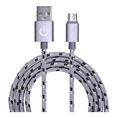 Εικόνα της Καλώδιο Garbot Grab&Go micro-USB Braided Silver 1m C-05-10195