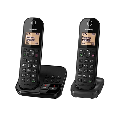 Εικόνα της Ασύρματο Τηλέφωνο Panasonic KX-TGC422GB Duo Black