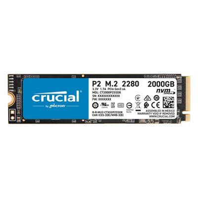 Εικόνα της Δίσκος SSD Crucial P2 M.2 Type 2280 NVMe 2TB CT2000P2SSD8