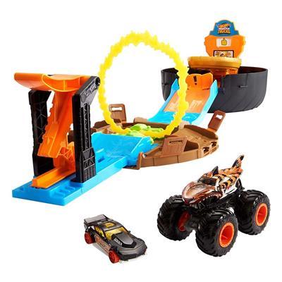 Εικόνα της Mattel Hot Wheels Monster Trucks - Σετ Παιχνιδιού Πίστα Σούπερ Ρόδα GVK48