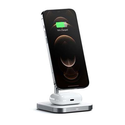 Εικόνα της Satechi 2 in 1 Magnetic Wireless Charging Stand ST-WMCS2M