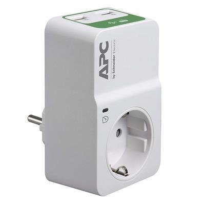 Εικόνα της Πρίζα Ασφαλείας APC Essential SurgeArrest 1 Θέσης & 2 USB White PM1WU2-GR