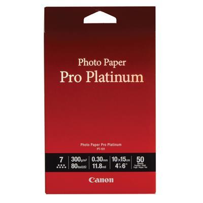 Εικόνα της Φωτογραφικό Χαρτί Canon Pro Platinum PT-101 A6 Glossy 300g/m² 50 Φύλλα 2768B014