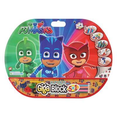 Εικόνα της AS Company - Σετ Ζωγραφικής Giga Block 5 Σε 1 Pj Masks 1023-62711