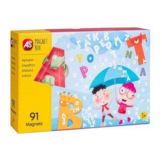 Εικόνα της AS Company - Magnet Box, Εκπαιδευτικό Παιχνίδι Αλφαβήτα 91 Μαγνήτες 1029-64033