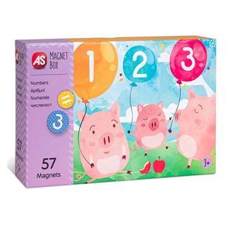 Εικόνα της AS Company - Magnet Box, Εκπαιδευτικό Παιχνίδι Αριθμοί 57 Μαγνήτες 1029-64034