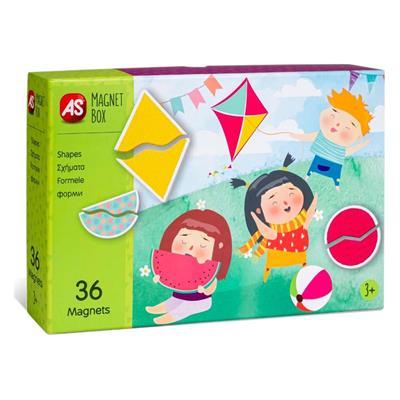 Εικόνα της AS Company - Magnet Box, Εκπαιδευτικό Παιχνίδι Σχήματα 36 Μαγνήτες 1029-64035