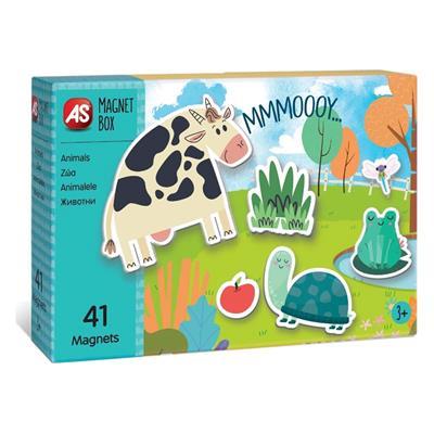 Εικόνα της AS Company - Magnet Box, Εκπαιδευτικό Παιχνίδι Ζωάκια 41 Μαγνήτες 1029-64036