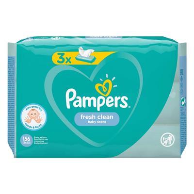 Εικόνα της Pampers Fresh Clean 3 Packs 156τμχ