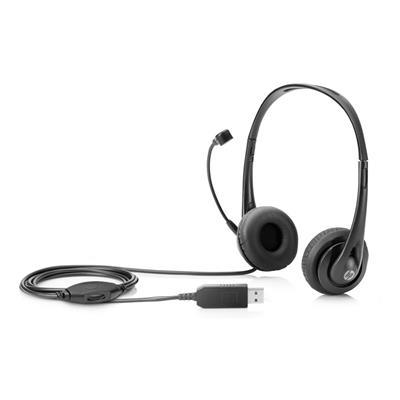 Εικόνα της Headset HP Stereo USB Black T1A67AA