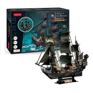 Εικόνα της Cubic Fun - 3D Led Puzzle Queens Anne's Revenge 340pcs L522h