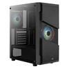 Εικόνα της Aerocool Menace Saturn RGB Tempered Glass Black AEROPGSMENACE-RGB-G