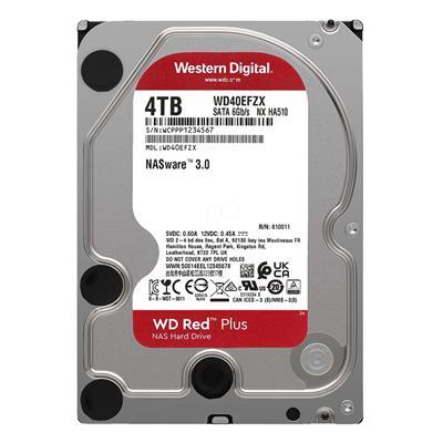 """Εικόνα της Εσωτερικός Σκληρός Δίσκος NAS Western Digital Red Plus 4TB 3.5"""" SATA ΙΙΙ 128MB 5400rpm WD40EFZX"""