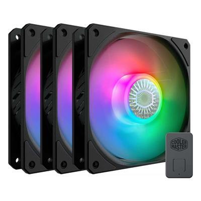 Εικόνα της Case Fan Cooler Master SickleFlow 120mm ARGB Black (3-Pack) MFX-B2DN-183PA-R1