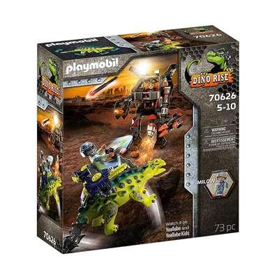 Εικόνα της Playmobil Dinos Rise - Saichania, Αγκυλόσαυρος Με Μαχητή Εναντίον Ρομπότ 70626